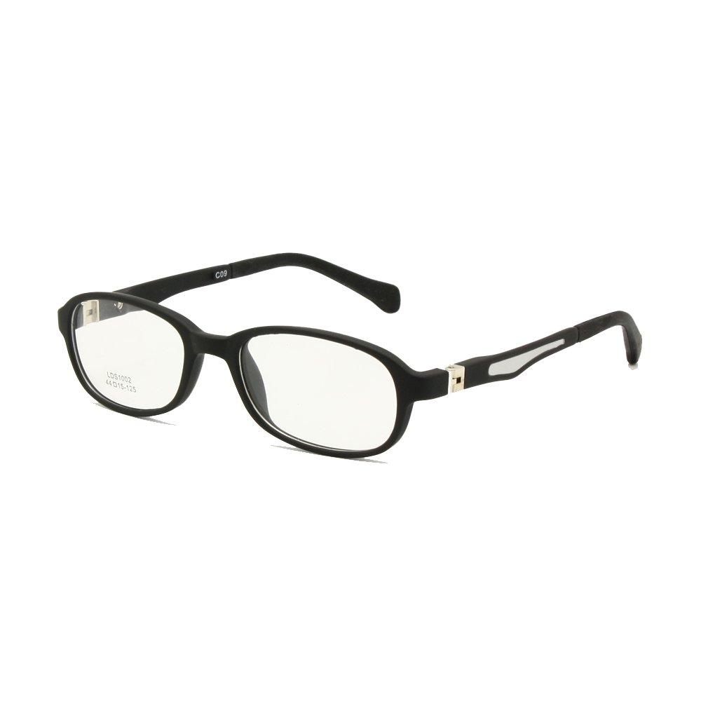 7938bb039f Amazon.com  Children Glasses Frame TR90 Size 44-15 Safe Bendable with Spring  Hinge Flexible Optical Boys Girls Kids Eyeglasses Clear Lenses  Health ...