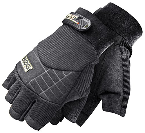 Bob Dale Gloves 20110670L Performance Glove Fingerless Impact Synthetic Leather Bob Dave Gloves