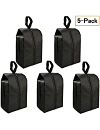 """Travel Shoe Bags Set of 5 14.8""""x7"""" Portable Shoe Tote Bags with Multi-purpose Travel Accessories for Men and Women by FLYEGO"""