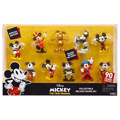 Disney Mickey Collectible Deluxe Figure Set, including Golden Mickey!