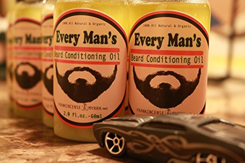 Beard Oil Leave-in Conditioner + Balm and Shampoo Combo 100% All Natural by Frankincense & Myrrh