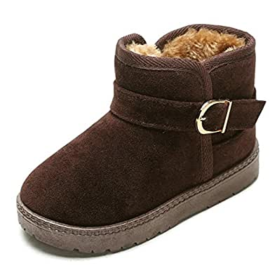 Amazon.com | Doris Kids Classic Fur Line Winter Boots for