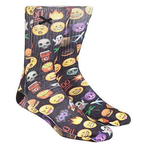 ODD SOX Emoji Mens Tube Socks, Black Combo