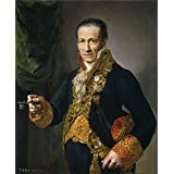 Oil painting 'Lopez Portana Vicente Luis Veldrof aposentador mayor y conserje del Real Palacio Ca. 1820 ' printing on Perfect effect canvas , 18 x 22 inch / 46 x 56 cm ,the best Bedroom decor and Home decoration and Gifts is this High Definition Art Decorative Canvas Prints