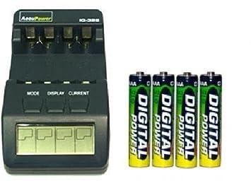 Amazon.com: iq-328 AA/AAA LCD cargador + 4 pilas AAA NiMH ...