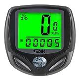 VonVonCo Durable Stopwatch Back Light Speedometer Odometer Bicycle Bike Waterproof