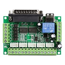 5 Axis CNC Interface Adapter Breakout Board For Stepper Motor Driver Mach3 + USB Cable