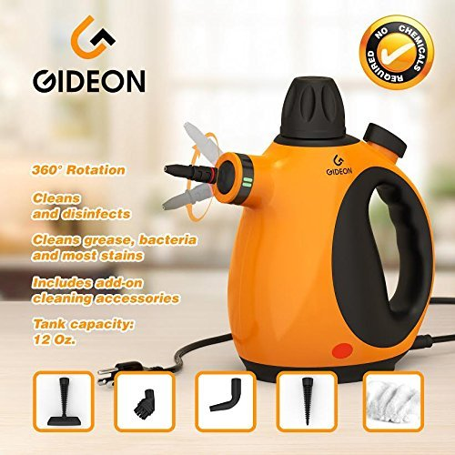 Gideon Handheld Pressurized Portable Steam Cleaner And