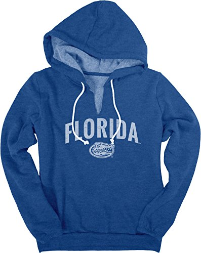 - NCAA Florida Gators Women's Heritage Fleece V-Notch Hood Shirt, Large, Royal
