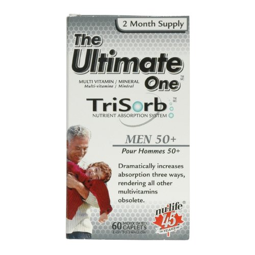 The Ultimate One Trisorb Men, 50+ Caplets, 60 Count