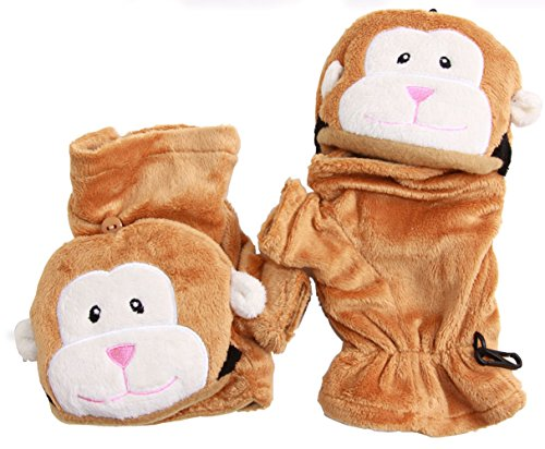 DY Animal Faux Fur Gloves -...