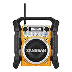 Sangean Portable Bluetooth Water Resistant Ultra Rugged AM/FM/NOAA Emergency Weather Channel Radio Receiver with Large Easy to Read Backlit LCD Display