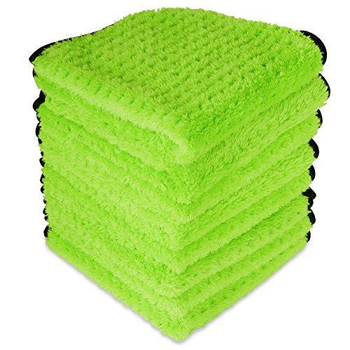 Liquid X Green Xtreme Plush Waffle Weave Microfiber Detailing Towel 16