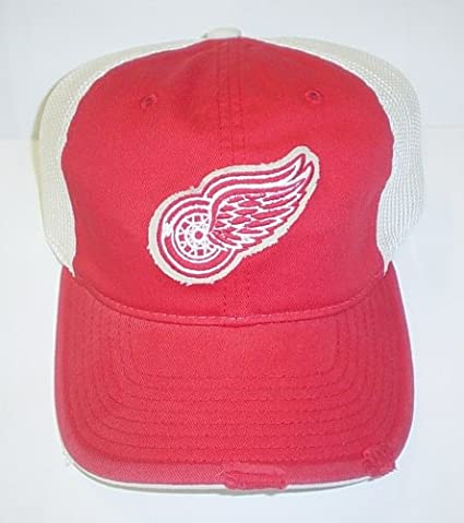 low priced 869fa aaafe Image Unavailable. Image not available for. Color  Detroit Red Wings Slouch  Mesh Back Reebok Hat ...
