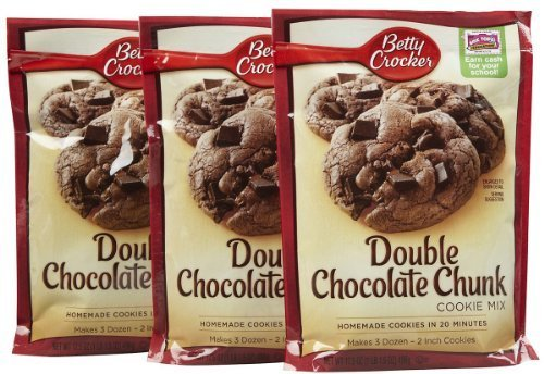 Betty Crocker Double Chocolate Chunk Cookie Mix, 17.5 oz, 3 pk