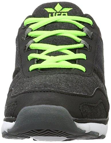 Lico 590004, Zapatillas Para Hombre Multicolor (Schwarz/Lemon)