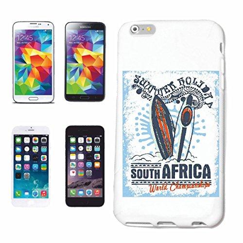 """cas de téléphone iPhone 7 """"AFRIQUE DU SUD PLAGE SURF SURFBOARD LONGBOARD ONDES DE SURF SHOP DEBUTANT"""" Hard Case Cover Téléphone Covers Smart Cover pour Apple iPhone en blanc"""