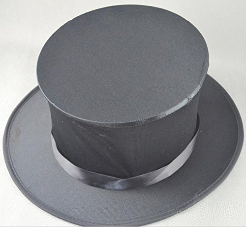 1 Child FOLDING TOP HAT Collapsible Magician Costume Spring Black Pop Up Open