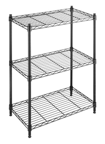 Tier Shelving Black (Three Adjustable Steel Shelves)