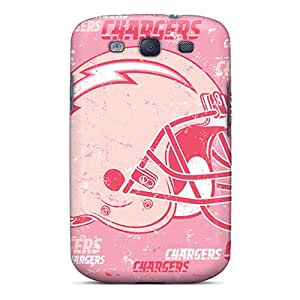 Great Hard Cell-phone Cases For Samsung Galaxy S3 With Unique Design Lifelike San Diego Chargers Image AlainTanielian