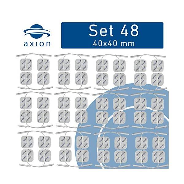 axion - Set di 48 elettrodi 4x4 cm in formato Risparmio con cavetti da 2mm 2 spesavip