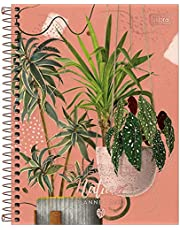 Planner Espiral 17,7 x 24 cm Naturalis 2022 - Estampa Embrace nature folhas em vasos - Tilibra