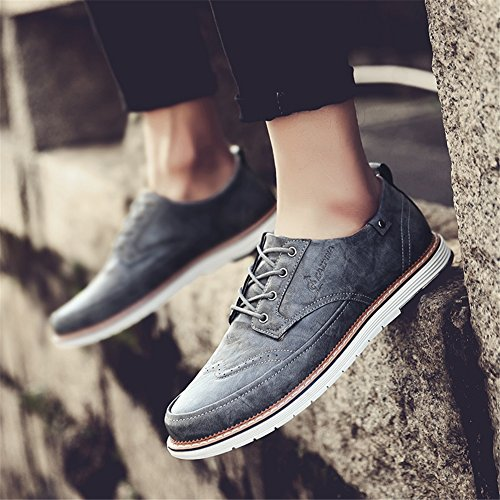 lavoro Estate Grey D Casual Pure up Lace Brown Business PU XUE Traspirante Shoe Bianco Primavera leggero Pure Scarpe uomo Scarpe Pure da Business formale Black wgffX6xq