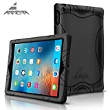 Armera New iPad 2017 Case for Apple 9.7 Inch Tablet - Durable Silicone Cover Case With Extra Corner Protection and Improved Anti Slip Grip Premium Protective Bumper for New iPad (NOT iPad Pro)(BLACK)