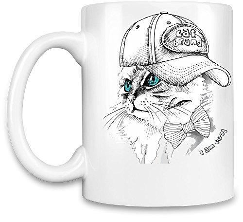 Funny Coffee Mugs Cat with the Cap Unique Coffee Mug (Live Kelly And Michael Halloween)