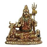 "Shiva Statue In Lotus - 6.3""Height Resin Statuettes Meditation Sculpture Home Decor Wedding"