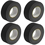 Seismic Audio - SeismicTape-Black602-4Pack - 4 Pack of 2 Inch Black Gaffer's Tape - 60 yards per Roll
