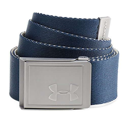 Adjustable Golf Belt - Under Armour Men's Webbing Belt 2.0, Academy (408)/Silver, One Size