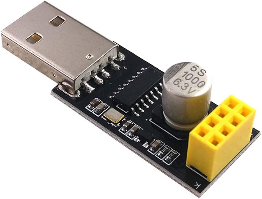 FATTERYU Adaptateur de Programmeur ESP01 UART GPIO0 CH340G USB vers ESP8266 ESP-01 CH340G s/érie