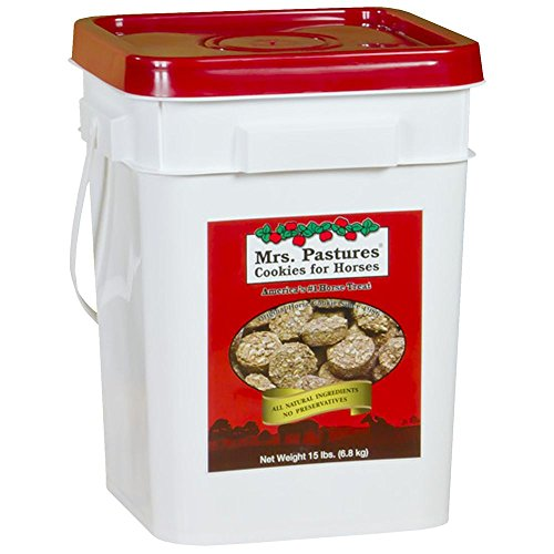 Mrs Pastures Cookies Horses 15 lb bucket by Mrs Pastures
