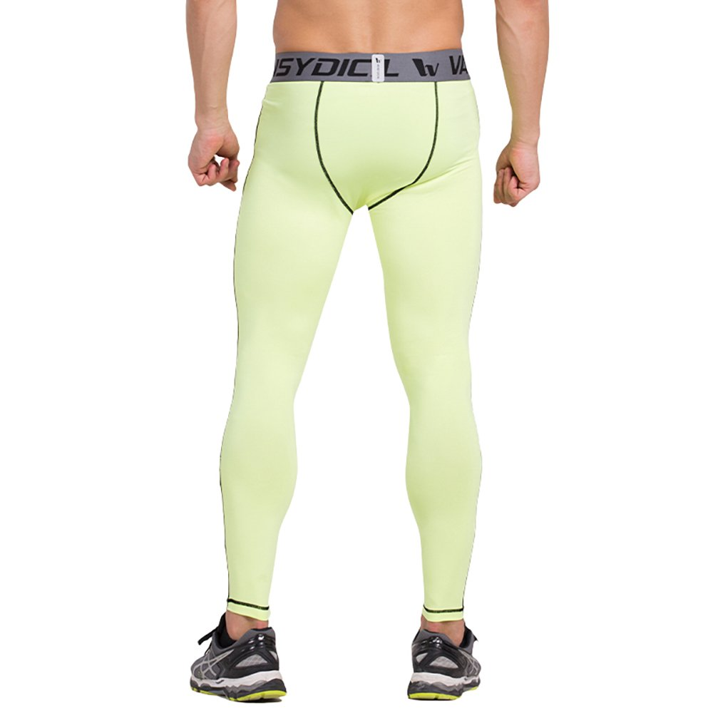 968cd80440 Vansydical Men's Compression Pants Running Tights Basketball Gym Pants  Bodybuilding Jogger Skinny Leggings Trousers Sportswear (Green, Small):  Amazon.co.uk: ...