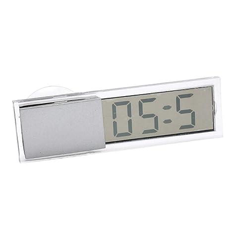 Sharplace Reloj Digital LCD Pantalla de Exhibición Reloj Electrónico con Ventosa Coche Accesorios