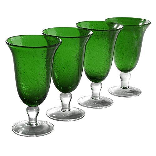 Water Green Footed - Artland Iris Footed Ice Tea Glass, Set of 4, 18 oz, Green