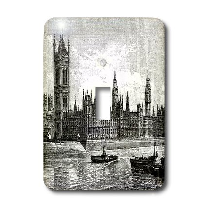 3dRose LLC lsp_49291_1 Famous London's Big Ben In Black N White Single Toggle (Big Toggle)