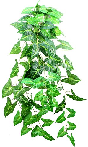 Admired By Nature Artificial Philo Hanging Bush Plant Leaves for Home Office, Wedding & Restaurant Decoration Arrangement, 48