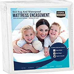 We bring you luxury Mattress Encasement Covers at an affordable price. Zippered cover features high quality seam construction and waterproof fabric. Zipper extends along three sides of the mattress, making it easy to install and remove. Cover will a...