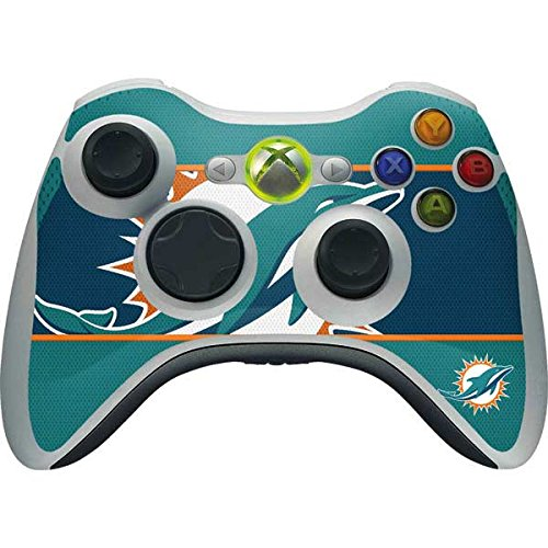 (Skinit NFL Miami Dolphins Xbox 360 Wireless Controller Skin - Miami Dolphins Zone Block Design - Ultra Thin, Lightweight Vinyl Decal Protection)