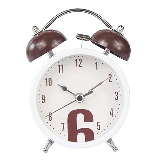 HENGCHENG Relojes Escritorio Creativo Bell Despertador Destop ...