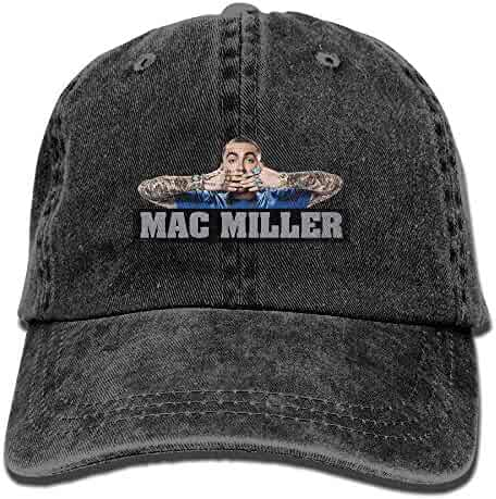 41c5c38545061 Personalized Strapback Hat MAC-Miller-Domestic-Poster Flat-Along Cap