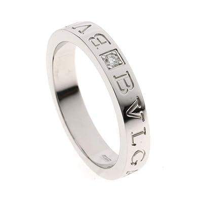 42053bb53312 [ブルガリ]ダブルロゴ ダイヤモンド リング・指輪 K18ホワイトゴールド メンズ (中古)