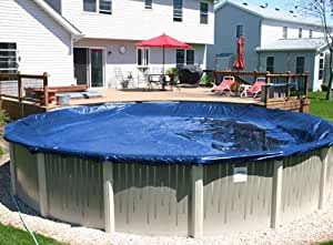 21'x41' Oval Deluxe Blue Above Ground Swimming Pool Winter Cover 10 Year Warranty