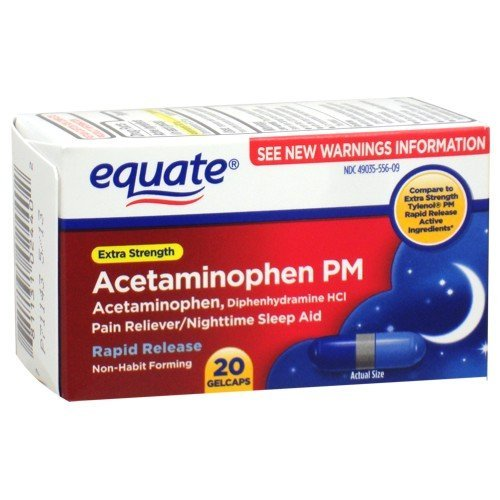 Equate - Pain Reliever PM Nighttime Sleep Aid, Extra Strengt