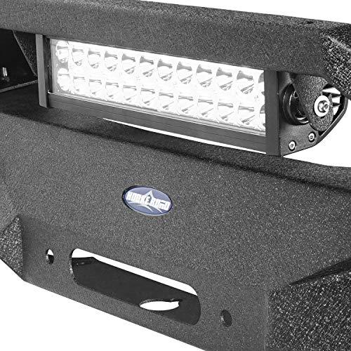 Hooke Road Jeep Wrangler BLADE Front Bumper w//Winch Plate /& 72W Light Bar /& 18W Fog Lights for 2007-2018 Wrangler JK /& JKU