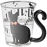 TOOGOO(R) 1x Lovely Cat Glass Mug Tea Milk Coffee Cup with Tail Handle New