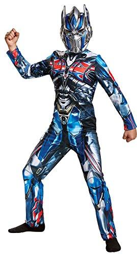 UHC Boy's Optimus Prime Classic Outfit Movie Theme Child Halloween Costume, Child M (7-8)