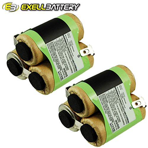 2x Exell Ni-MH 3.6V Battery Fits